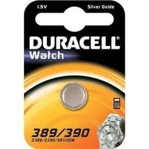 duracell watch pila bottone argento 1,5v per orologi d389