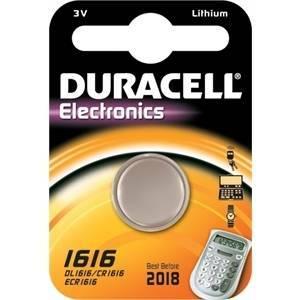duracell duracell electronics pila bottone al litio 3v per orologi dl1616