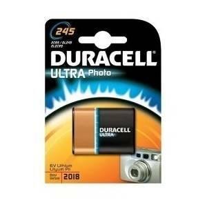 duracell duracell ultra photo pila piatta al litio 6v per fotocamere dl245