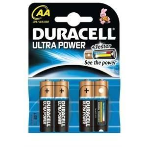duracell duracell batterie stilo aa ultra power 4  powercheck up1500