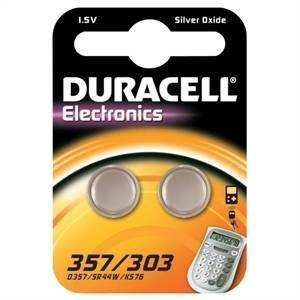 duracell duracell electronics 2 pile bottone argento 1,5v per orologi d357