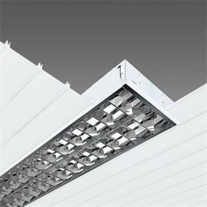 disano plafoniera comfort t8 773 lampade fl 2x58 cel-f colore bianco 14100508