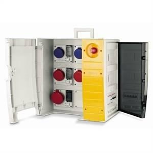 scame scame quadro d'alimentazione con morsettiera e pulsante di emergenza mbox3 657.6934-109