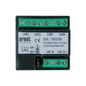 urmet distributore 4 utenze per sistema 2voice 1083/55