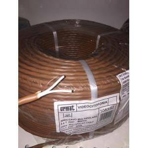 urmet 200 metri di cavo 2x1 mm citofonico e videocitofonico sistema 2 voice 1083/92