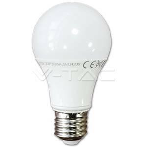 v-tac lampadina goccia led in termoplastica 10w attacco e27 luce naturale 4226