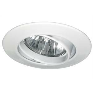 paulmann faretto a incasso in alluminio colore bianco 35w gu4 12v rotazione 30° 5774