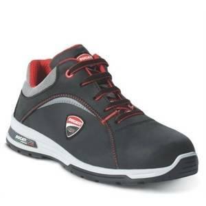 ftg safety shoes scarpa bassa modello lemans esd ducati tg.45 in pelle fiore colore nera lemans-45 s3 src