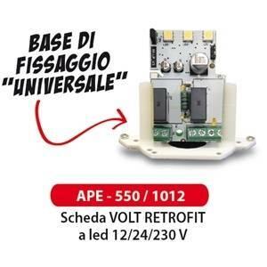 elettroservice scheda per lampeggiante 12-24- 230v ape-550/1012