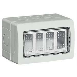 bticino matix  contenitore ip55 4 posti con portelli 25504