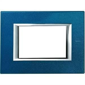 bticino axolute placca 3 moduli rettangolare colore blu ha4803bm