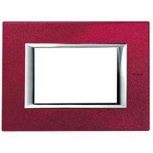 bticino axolute placca 3 moduli colore rosso china ha4803rc