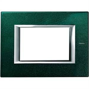 bticino axolute placca 3 moduli rettangolare colore verde ha4803vs