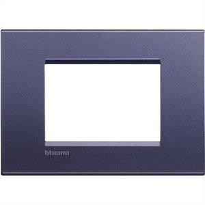 bticino livinglight  placca 3 moduli colore bronzo lucido club lna4803cb