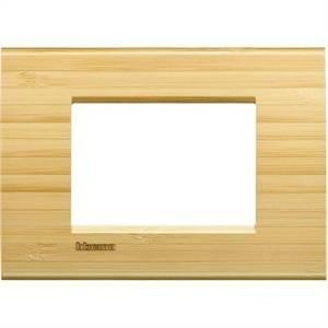 bticino livinglight placca 3 moduli colore bamboo lna4803lba