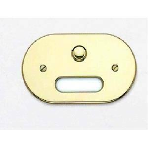 cal campanello e targa porta nome in ottone lucido p610