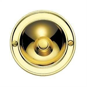 cal campanello tondo in ottone lucido p630