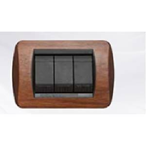 Cal living international placca 3 posti in legno massiccio colore noce 650 - Placche living international ...