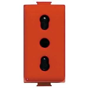 bticino matix - presa bipasso color rosso 2p+t 10/16a a5180r