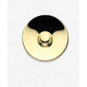 cal campanello tondo in ottone lucido d.55mm p10