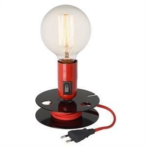 la chaise longue lampada da tavolo con bobina avvolgicavo colore rosso 34-2m-006r