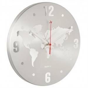 la chaise longue orologio mappamondo d 30,5cm silver 35-1h-003