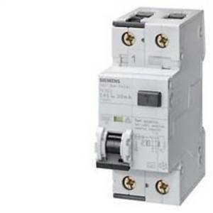 siemens interruttore magnetotermico differenziale 6ka 1p+n c6 tipo ac 5su1353-1kk06