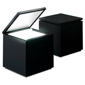 cini&nils cini&nils lampada da tavolo cuboluce 40w nera 138