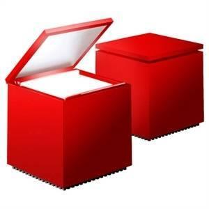 cini&nils cini&nils lampada da tavolo cuboluce 40w rossa 137