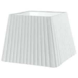 eglo paralume vintage plisse' in tessuto colore bianco attacco e14 h 12 cm 49416