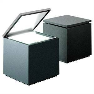 cini&nils cini&nils lampada da tavolo cuboluce 40w laccaseta antracite 139