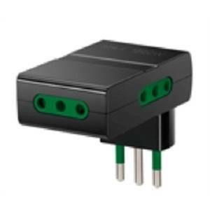 vimar adattatore multiplo s11+3p11 nero 0a00310