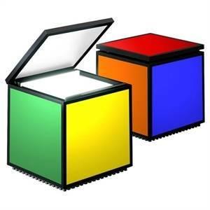 cini&nils lampada da tavolo cuboluce pentacolore 294
