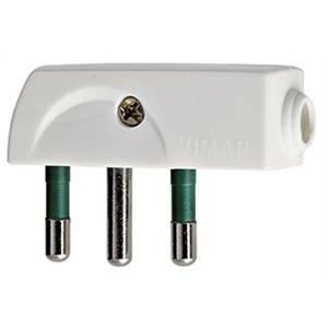 vimar spina piatta a squadra 2p+t 16a standard italiano spa17 uscita cavo 90° colore bianca 0a00207b