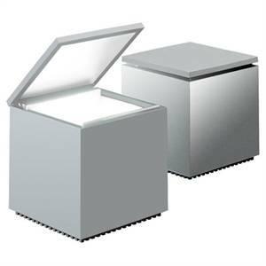 cini&nils lampada da tavolo cuboluce 40w colore argento 288