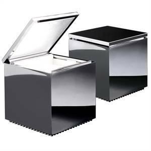 cini&nils lampada da tavolo cuboluce 40w colore cromo 289