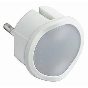 bticino kit - adattatore spina standard tedesca + luce emergenza colore bianco s3625dl