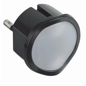 bticino kit - adattatore spina standard tedesca+luce emergenza colore grigio s3625gl