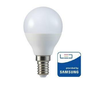 v-tac v-tac lampadina goccia led chip samsung 7 w attacco piccolo e14 luce fredda 6400k vt-270 865