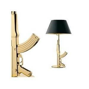 flos flos lampada guns table gun 150w oro f2954000