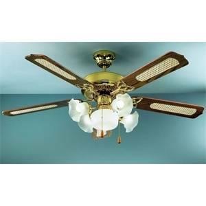 perenz ventilatore ottone lucido con kit luce 7066ol