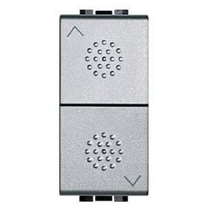 bticino bticino livinglight tech doppio pulsante 1 polo 10a grigio nt4037