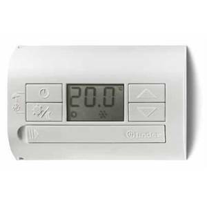 finder finder termostato digitale batteria a parete bianco 1t3190030000