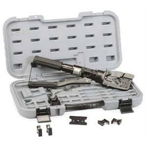 bm bm pressa idraulica manuale con set matrici e valigetta 1823