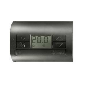 finder finder termostato digitale batteria a parete nero 1t3190032000