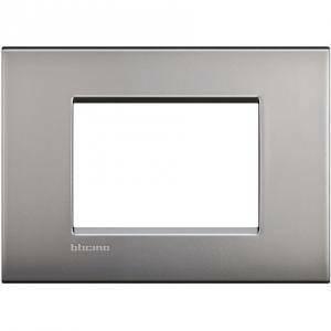 bticino livinglight air placca 3 moduli colore nichel satinato lnc4803nk