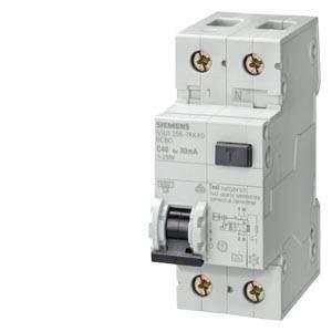 siemens siemens interruttore magnetotermico differenziale 1p+n 10a 6ka 30ma 5su1356-1kk10