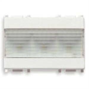 vimar vimar plana lampada segnapasso led 3 moduli 120-230v bianco 14383