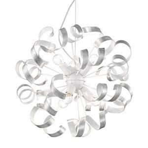 ideal lux sospensione vortex sp6 colore argento attacco e14 60w 01613