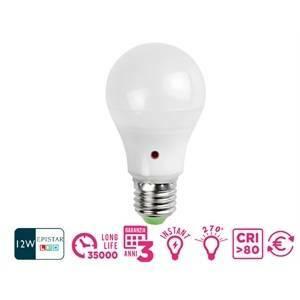 marino cristal lampadina led con sensore crepuscolare 12w attacco e27 luce calda 21200